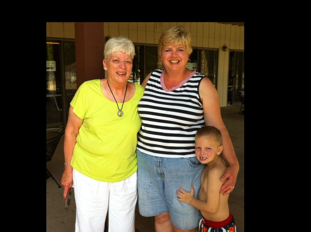Aunt Mary Rose with Jack and I